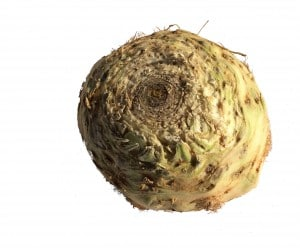 A round root vegetable